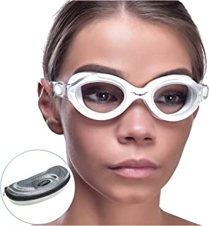 AqtivAqua Clear Optics Swim Goggles // Swimming Workouts - Open Water // Indoor - Outdoor Line