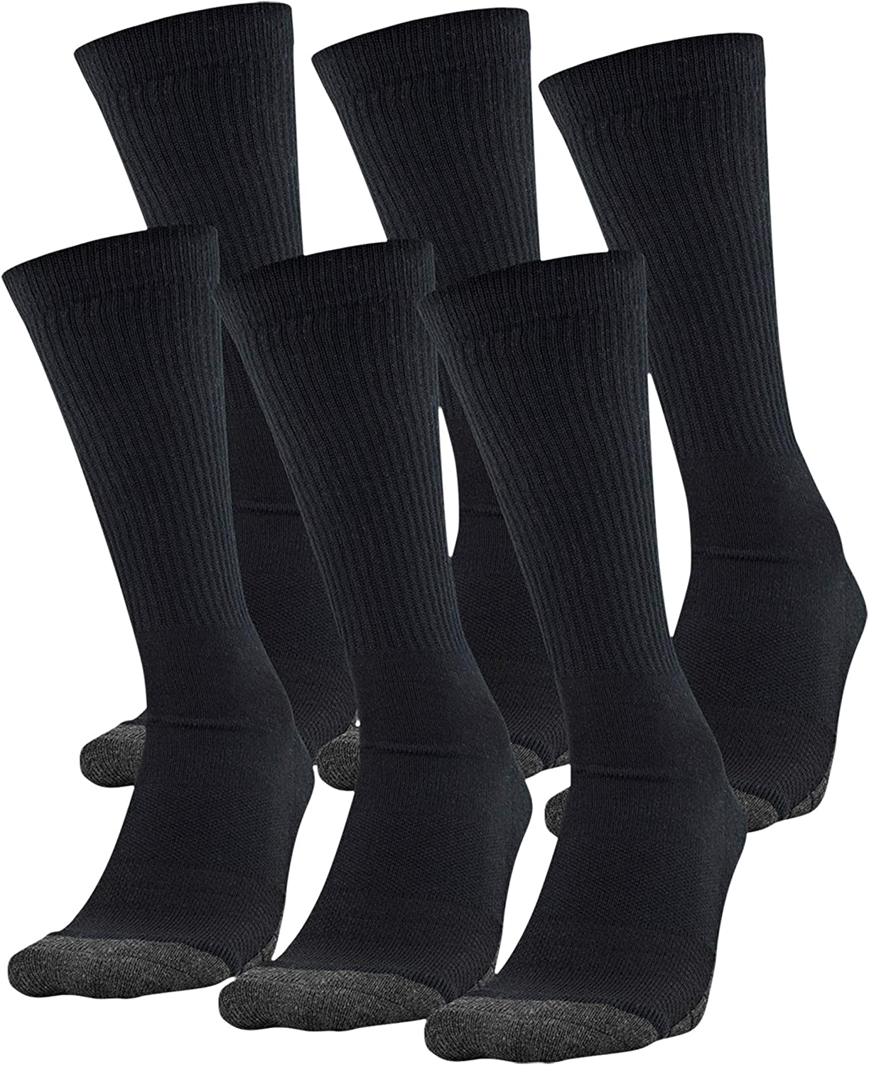Under Armour Adult Performance Tech Crew Socks (3 and 6 Pack)