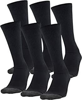 Under Armour Adult Performance Tech Crew Socks (6 Pairs), Shoe Size: Mens