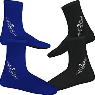 Nordic Essentials Beach Socks [2 Pairs] Wear in Sand Playing Volleyball & Soccer or as Booties for Snorkeling, Diving & Watersports - by Trade; - 1 Year Warranty