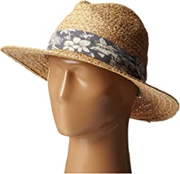 San Diego Hat Company - RHF6004 Straw Panama Fedora w/ Palm Leaf Band