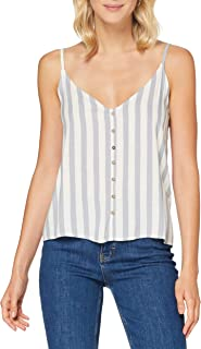 Only Onltammy S//L Top Wvn Camiseta sin Mangas para Mujer