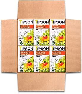 Tipson Tea Organic Moringa Mango Tea with Herbal Infusions -Caffeine Free- 150 Tea Bags by MunchBox
