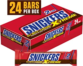 SNICKERS Xtreme Sharing Size Chocolate Candy Bars 3.59-Ounce Bar 24-Count Box