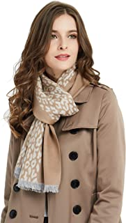 Women's Silk Scarves for Winter, 100% Mulberry Silk Brushed, Luxuriously Soft & Warm