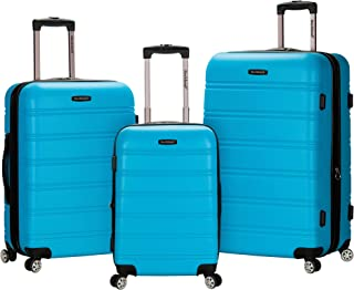 Rockland Luggage Melbourne 3 Piece Set, Turquoise, One Size