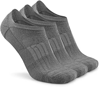 Busy Socks No Show Merino Wool Athletic Running Socks for Men Women,Low Cut Thin Soft Sport Wool Socks with Non-Slip Grips