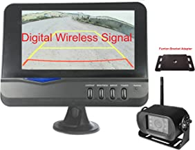 "4Ucam Digital Wireless Camera + 7"" Monitor + Adapter for Furrion FRCBRKT-BL Pre-Install Mounting Kit (FOS48T-BL/FOC12TA-BL) for RV, Trailer, 5th Wheels"