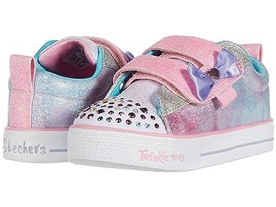 SKECHERS KIDS Twinkle Toes Shuffle Lites 20320N (Toddler/Little Kid) (Light Pink/Multi) Girl