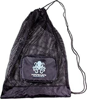 Compact Mesh Gear Bag | for Scuba Diving, Snorkeling, Swimming, Beach and Sports Equipment