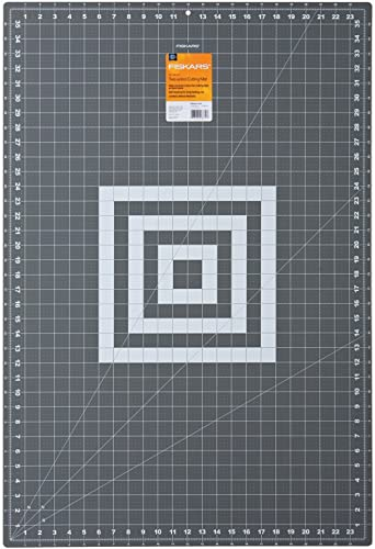 Fiskars 12-83727097J Self Healing Rotary Cutting Mat, 24x36 Inch,Grey