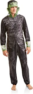 Adult Mens Frankenstein Onesie Union Suit One Piece Pajama Set