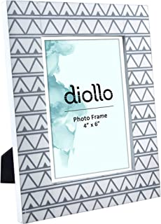diollo Photo Frame 4x6 Inch Resin Picture Frame for Walls or Table Topper Gift, Photo Size : 4X6 Inch | Frame Size : 19x24 CM