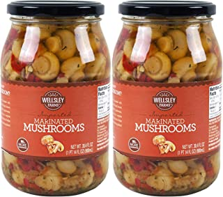 Wellsley Farms Marinated Mushrooms, 30.4 oz. (pack of 2)