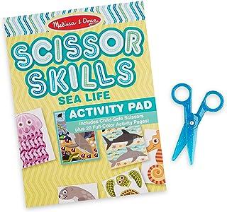Melissa & Doug Sea Life Scissor Skills Activity Pad with Child-Safe Scissors – 20 Pages