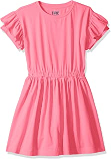 Amazon/ J. Crew Brand- LOOK by crewcuts Girl's Ruffle Sleeve Dress