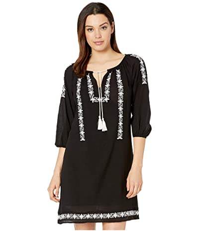 Lucky Brand Kelly Shift Dress (Lucky Black) Women