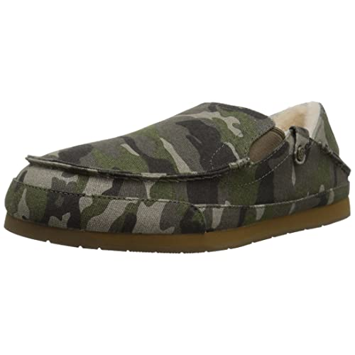 8b94bcfcc28b 206 Collective Men s Bower Collapsible Back Shearling Moccasin Slipper