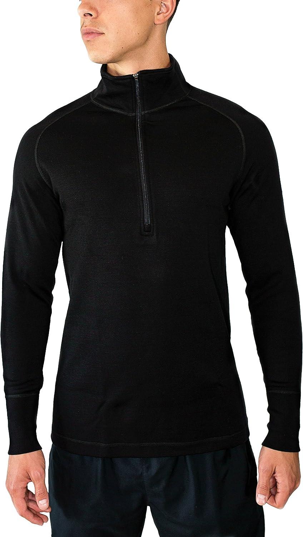 WoolX Merino Heavyweight Wool 1 4 Zip Top