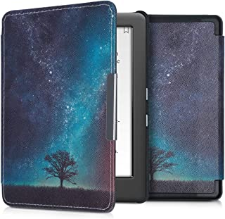 kwmobile Case for Kobo Glo HD/Touch 2.0 - Book Style PU Leather Protective e-Reader Cover Folio Case - Blue/Grey/Black