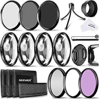 Neewer 72mmカメラレンズフュルターセット 72mm(UV CPL FLD)フィルター+(ND2 ND4 ND8)NDフィルター+72mmクローズアップマクロフィルター(+1 +2 +4 +10)、ミニ卓上三脚など 72mmスレッド付きのレンズに対応