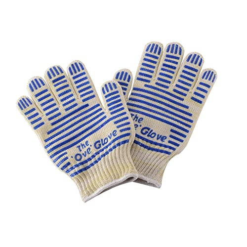 BBQ Oven Gloves, Koeads Oven Heat Resistant Cooking Gloves for Grill,Baking (Blue