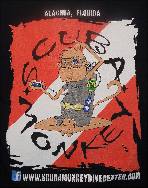 Atlas Screen Printing Scuba Monkey Mens Scuba Monkey Logo Shirt blueee