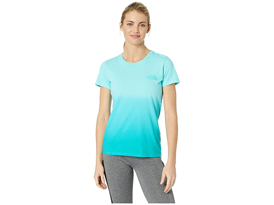 The North Face Short Sleeve Dip-Dye Tee (Mint Blue/Ion Blue) Women