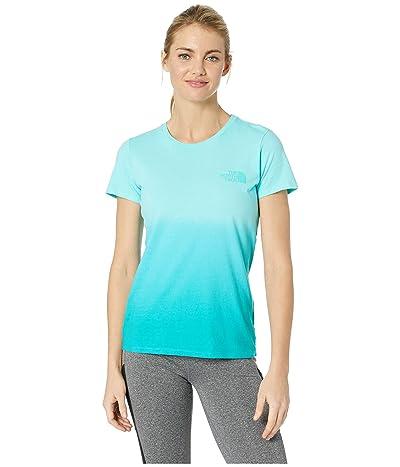 The North Face Short Sleeve Dip-Dye Tee (Mint Blue/Ion Blue) Women