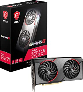 MSI Gaming Radeon RX 5500 XT Boost Clock: 1845 MHz 128-bit 8GB GDDR6 DP/HDMI Dual Torx 3.0 Fans Crossfire Freesync VR Read...