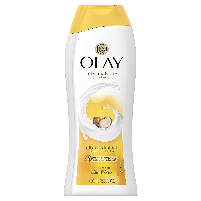ゴールド暴動ロールOlay Ultra Moisture Moisturizing Body Wash With Shea Butter, 13.5 oz. 2本セット