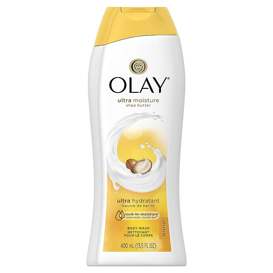 常識楕円形処理するOlay Ultra Moisture Moisturizing Body Wash With Shea Butter, 13.5 oz. 2本セット