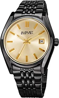August Steiner Women's Quartz Stainless Steel Casual Watch, Color:Black (Model: AS8235BK)