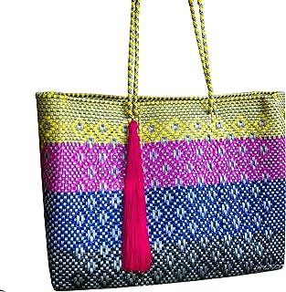 Bolsa tejida a mano tradicional mexicana