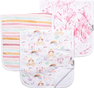 "Baby Burp Cloth Large 21''x10'' Size Premium Absorbent Triple Layer 3-Pack Gift Set""Enchanted"" by Copper Pearl"