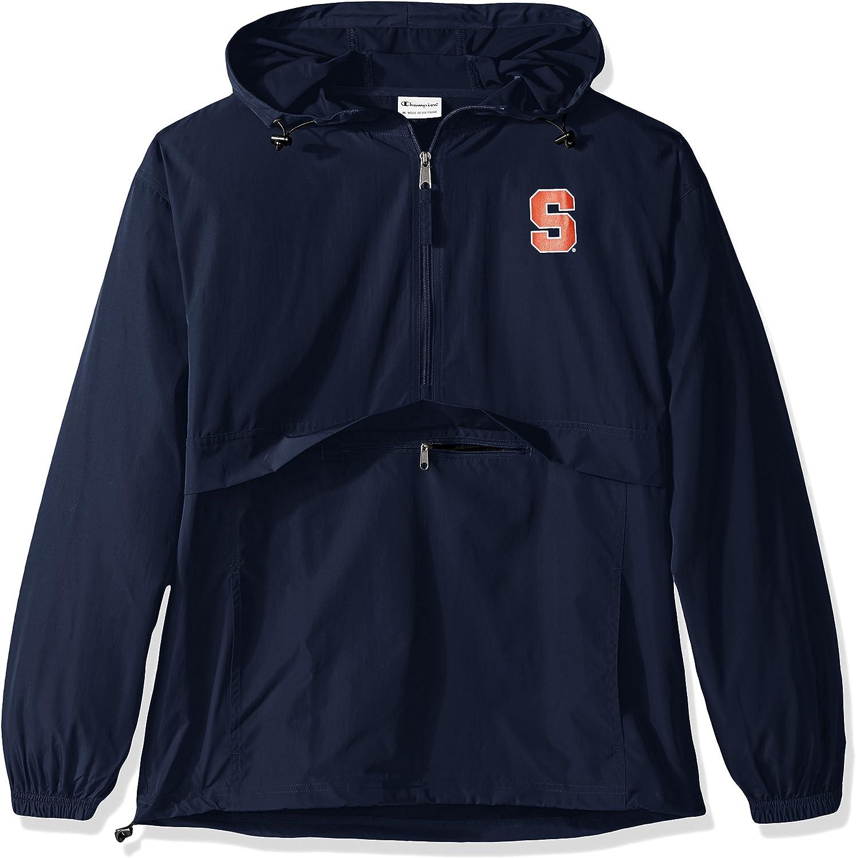 Champion NCAA Mens Half Zip Packable Jacket
