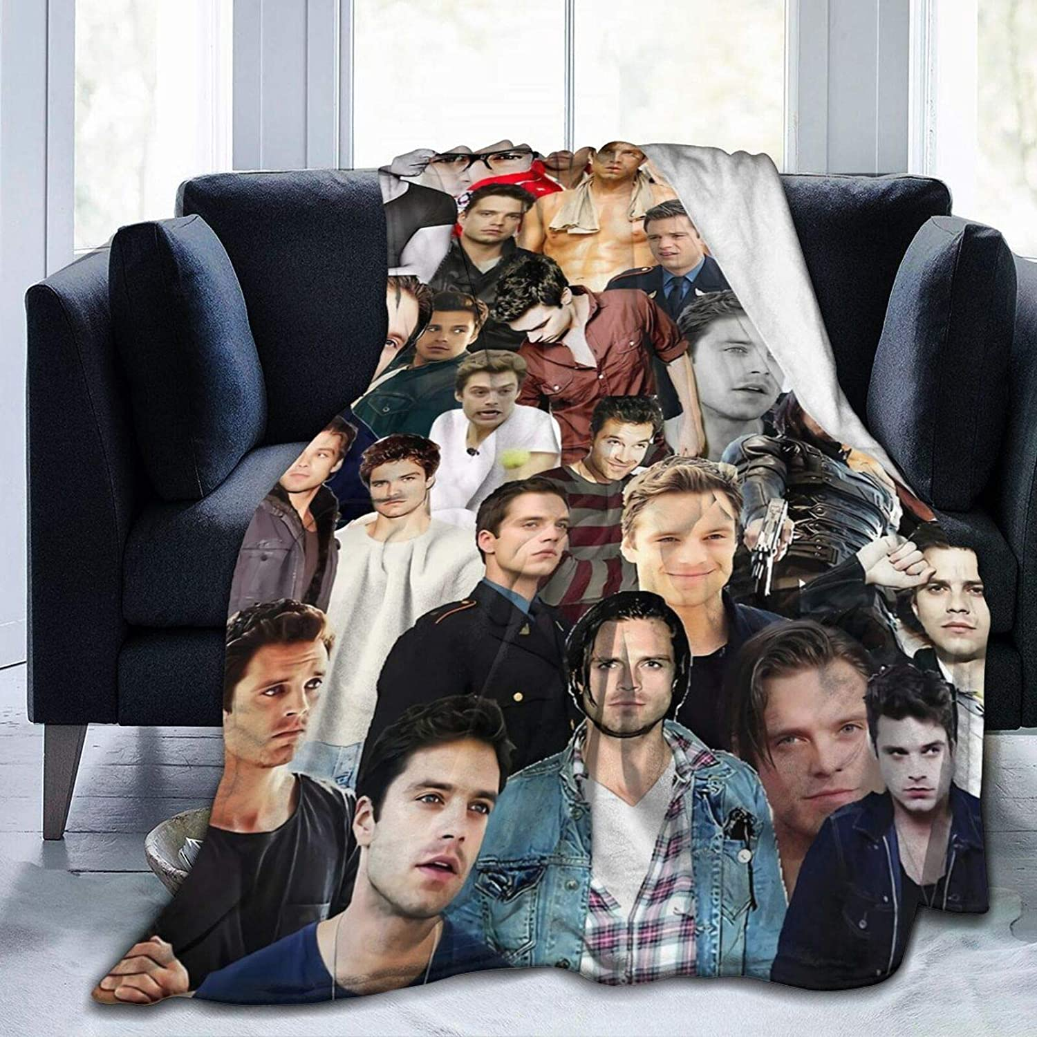 Throw Blanket Sebastian Stan Soft Fleece Sofa Co Safety and trust Ranking TOP13 for Bed