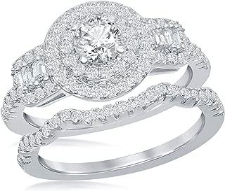 Best double halo diamond setting Reviews