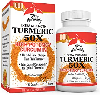 Sponsored Ad - Terry Naturally Turmeric 50X - 60 Capsules - Extra Strength Curcumin - Up to 50x Stronger Than Plain Turmer...
