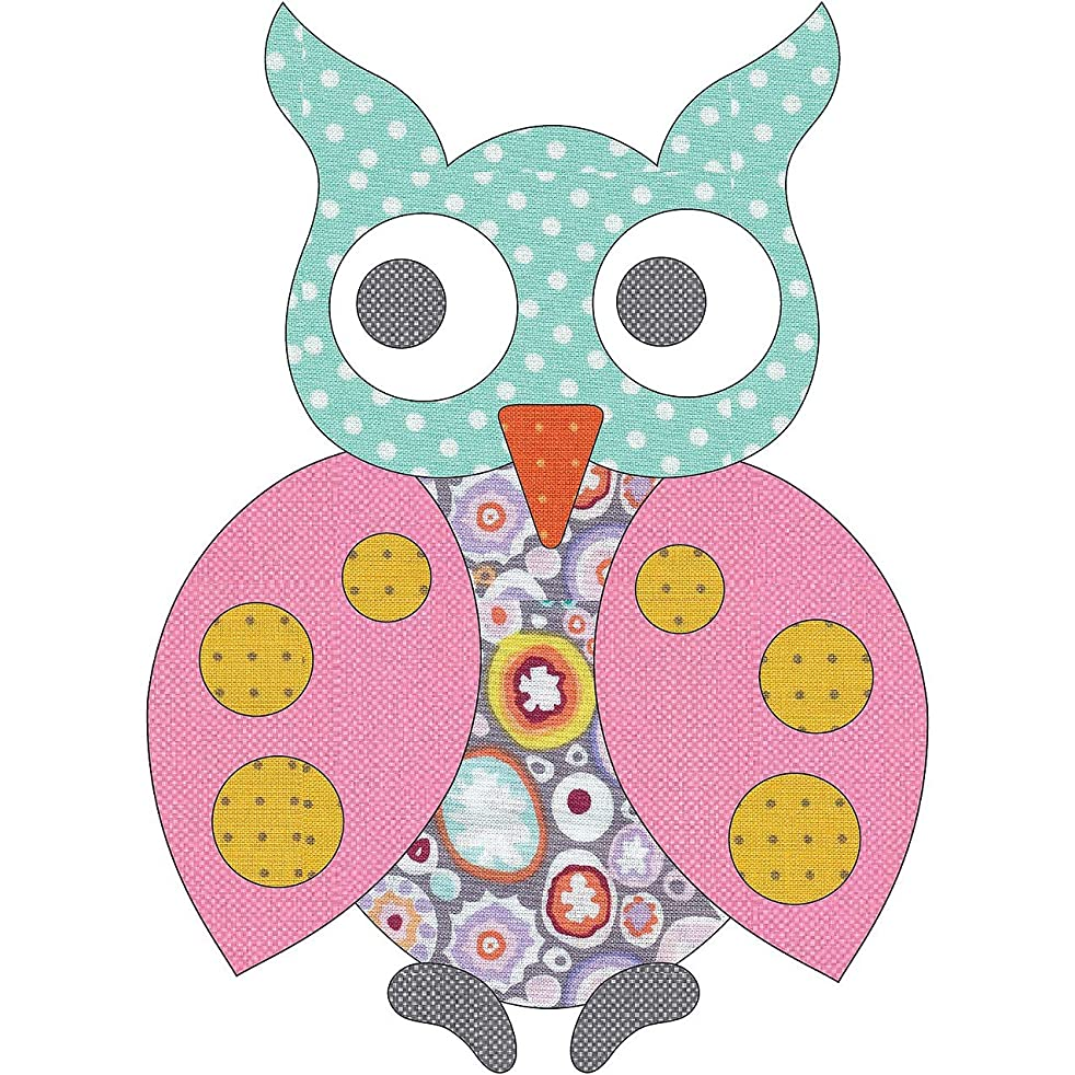 Quilting Creations Laser Cut Fusible Spotted Owl 6 Dotz Applique