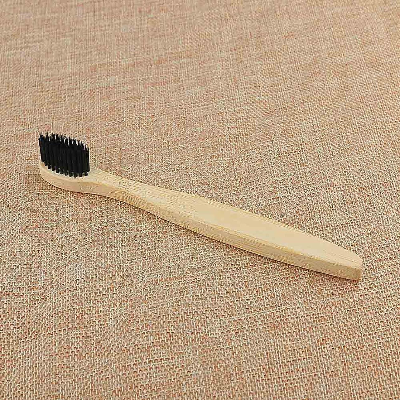 ハリケーン評価毛布Yutner 口腔保健低炭素ミディアムソフト毛ウッドハンドル歯ブラシ1PCパーソナル環境竹炭歯ブラシ