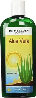 Dr. Mercola,Aloe Vera Gel, 8 fl oz (236 mL), Skin Care, Hair Gel, Green Tea Extract, 100 Percent Pure Aloe Vera, Cucumber