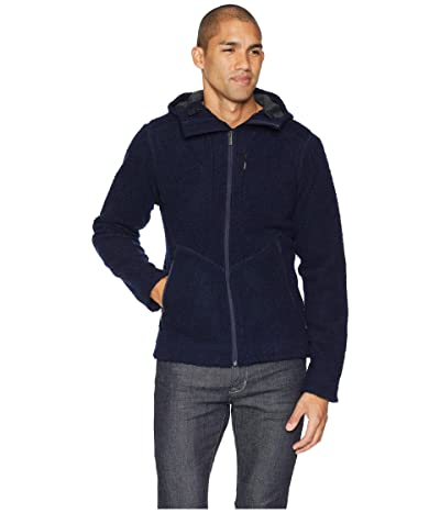NAU Randygoat Shearling Hoodie Jacket (Navy) Men