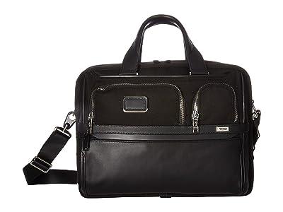 Tumi Alpha 3 Expandable Organizer Laptop Brief (Black Chrome) Luggage