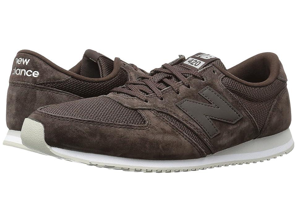 New Balance Classics U420v1 (Brown/Brown) Running Shoes