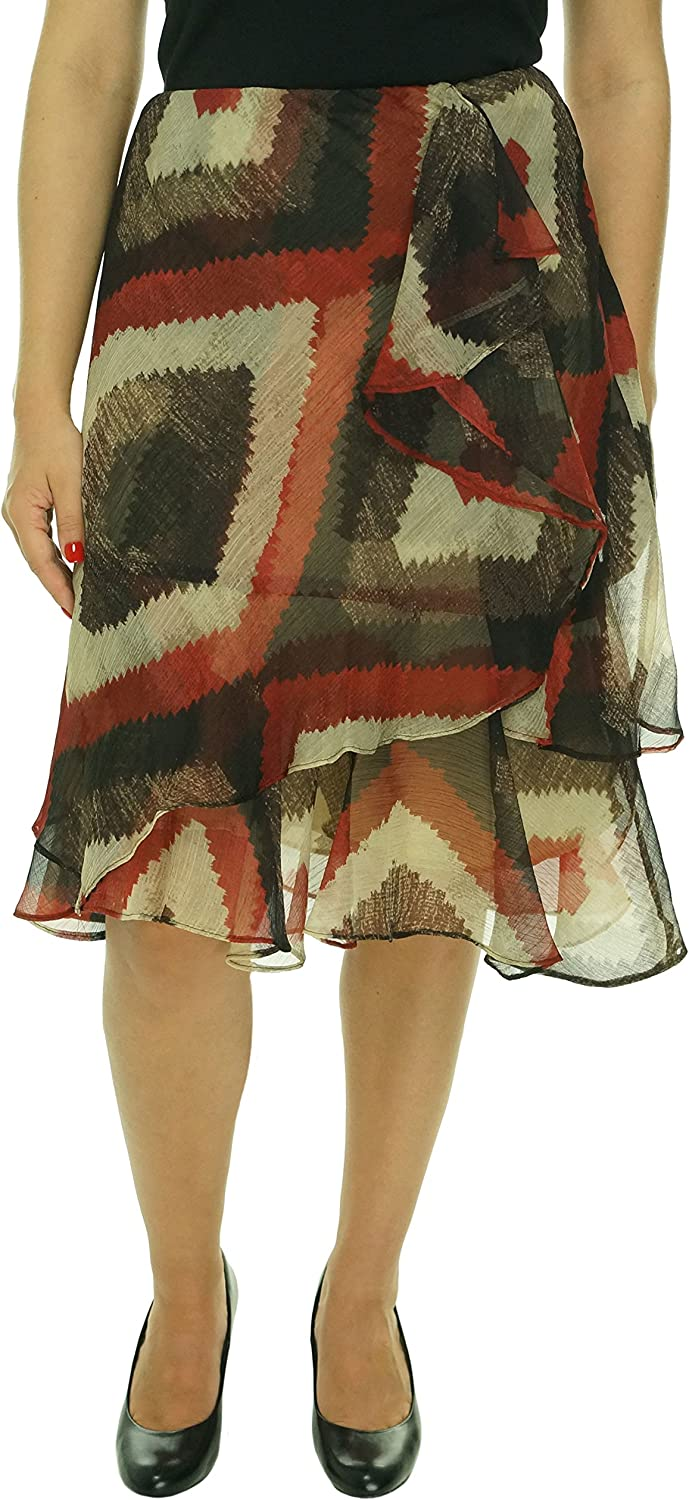 Ralph Lauren Women's Plus Size SouthwestPrint Ruffled SkirtM3X