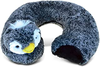 Puzzled Penguin Super-Soft Stuffed Plush Travel Neck Pillow Cuddly Animal - Animals/Birds/Ocean Theme - 11 INCH - Great He...