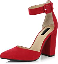 Best red pointy heels with ankle strap Reviews