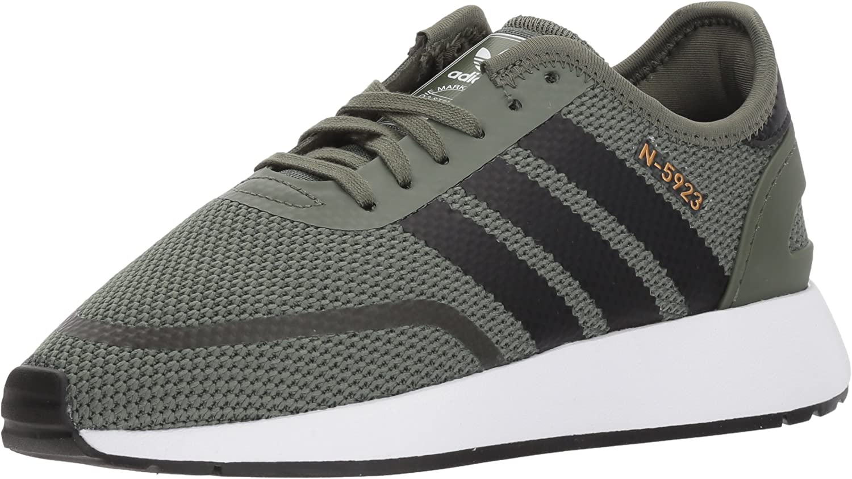 Adidas Unisex-Kids N-5923 J Sneaker, Base Green, Core Black, Ftwr White, 7 M US Big Kid