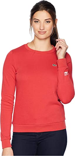 Long Sleeve Fleece Crew Neck Sweatshirt